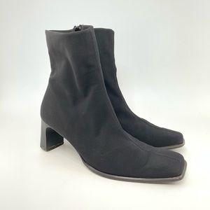 Paul green black heeled booties